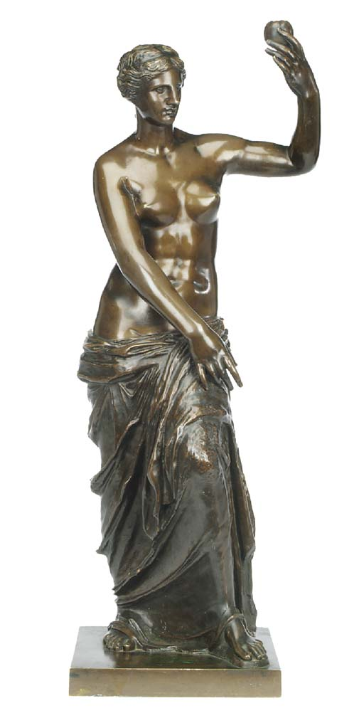 A Continental bronze figure of Venus, late 19th century