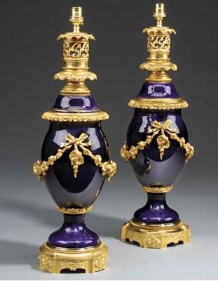 A pair of French 'bleu de roi'