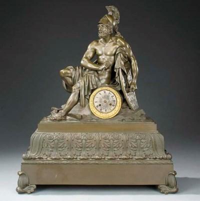 A large Restauration bronze st