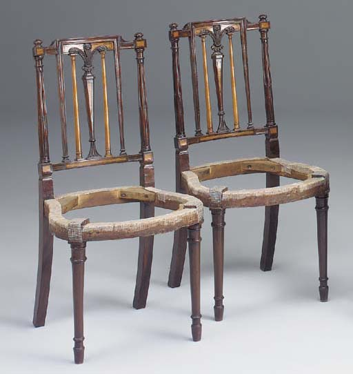 A PAIR OF MAHOGANY SATINWOOD I