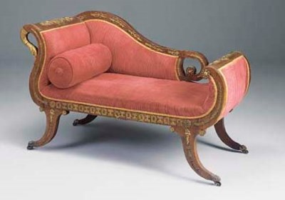 A French mahogany and gilt-met