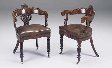 A PAIR OF CONTINENTAL CARVED M