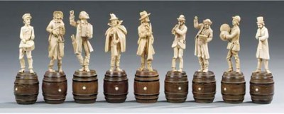 A group of nine German or Aust