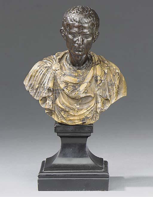 An Italian bronze and marble b