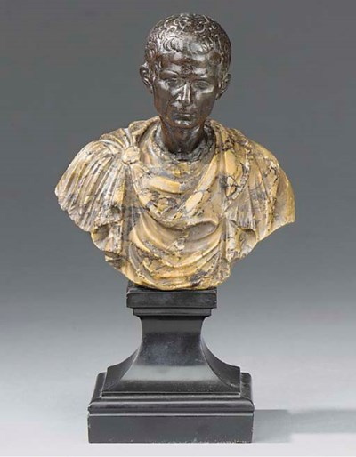 An Italian bronze and marble b