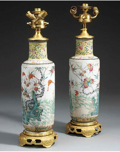 A pair of Chinese 'famile vert