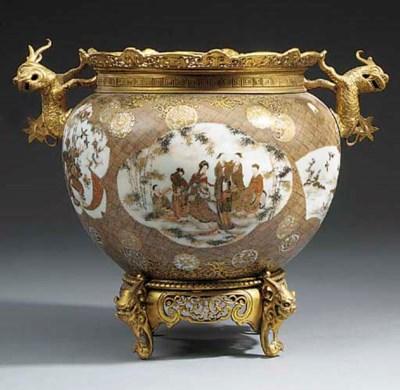 A Japanese Satsuma porcelain b