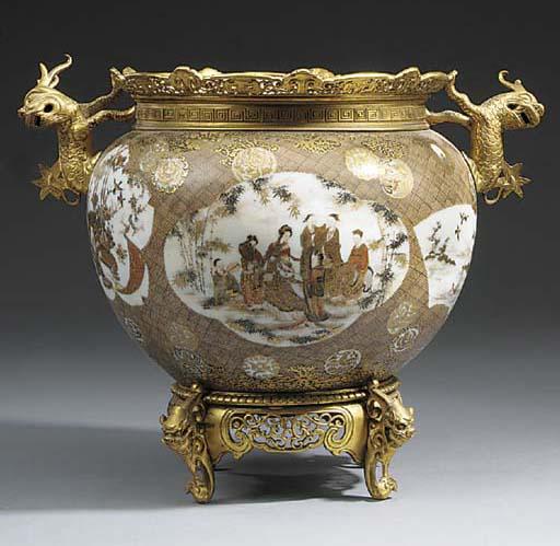 A Japanese Satsuma porcelain bowl, 19th century