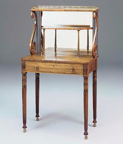 A REGENCY ROSEWOOD INLAID AND
