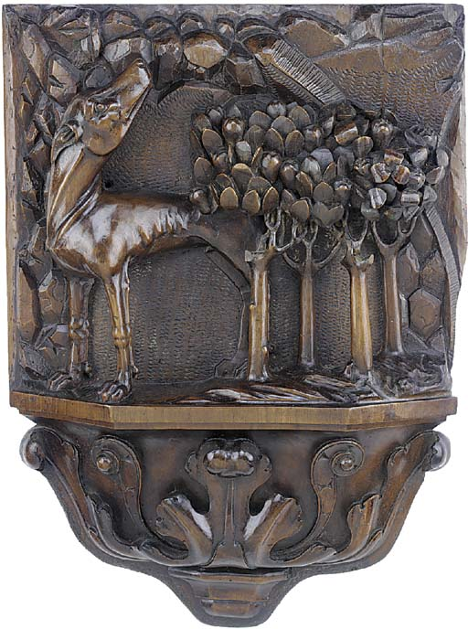 A Northern European carved and
