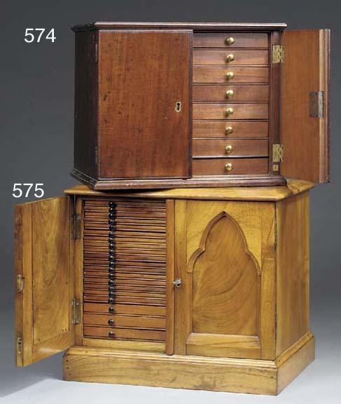 A Victorian walnut collectors
