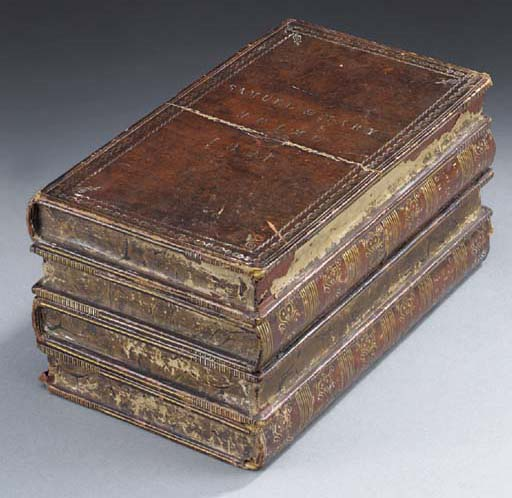 A George IV leather veneered tea caddy