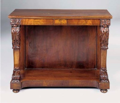 A WILLIAM IV MAHOGANY CONSOLE