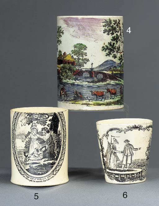 A pearlware transfer-printed c