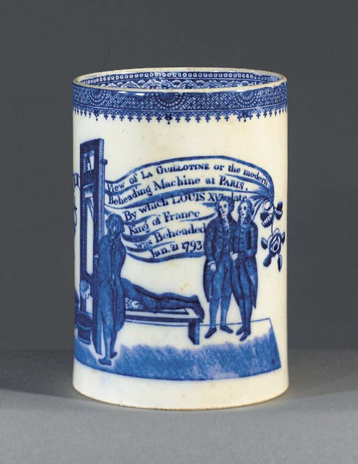 A pearlware blue and white cyl