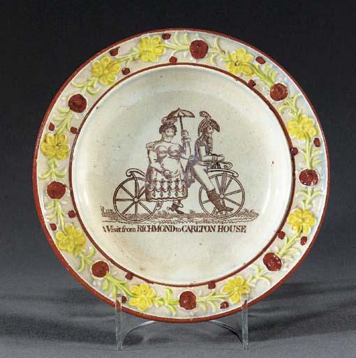 A pearlware commemorative smal