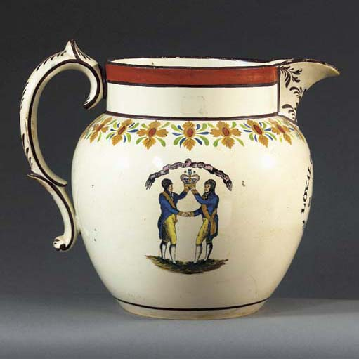 A large pottery Orange Order j