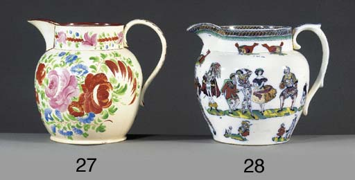 A pottery large oviform jug