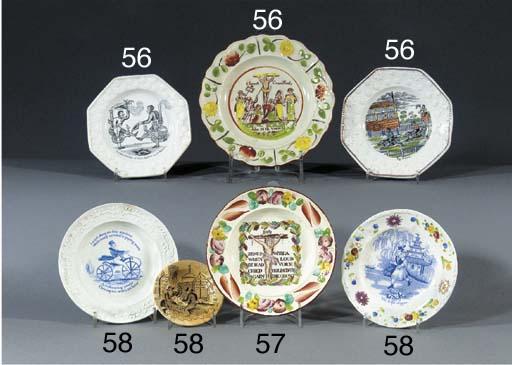 Five various pottery nursery p