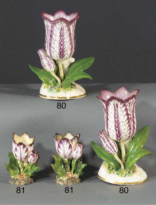 A pair of porcelain tulip vase