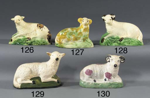 A pottery model of a sheep