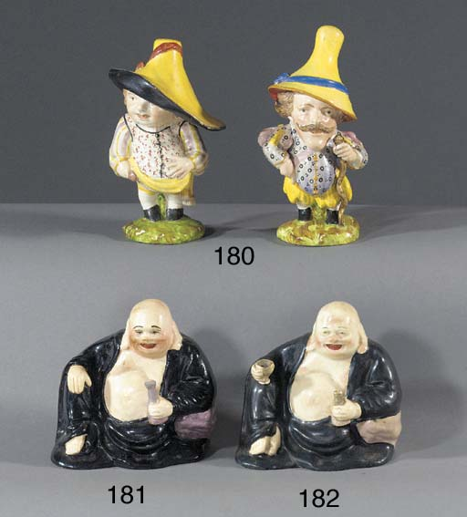 Two pearlware models of Mansio