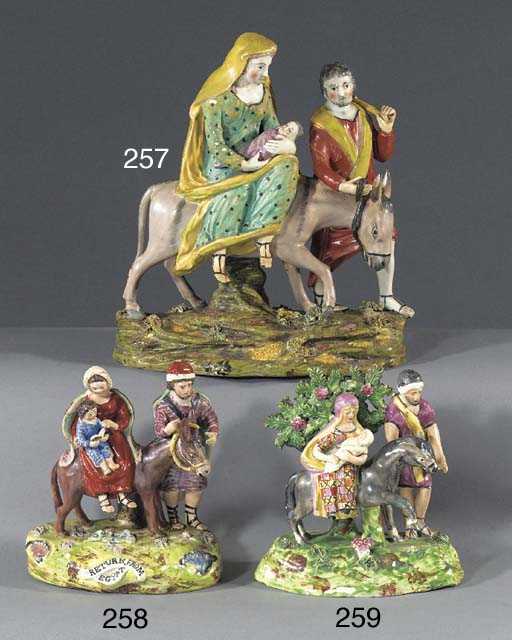 A pearlware Flight in to Egypt