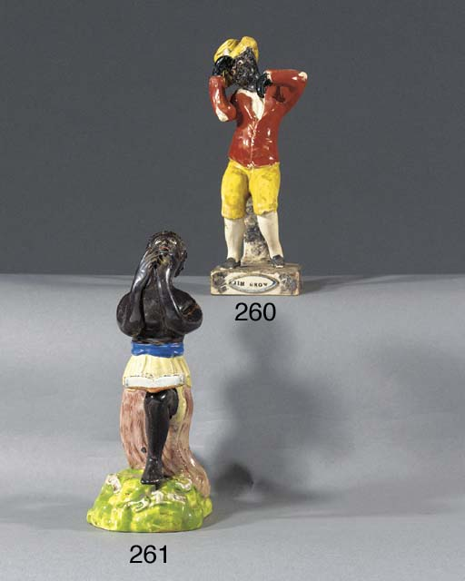 A pearlware figure of a freed