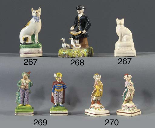 Two small pearlware figures