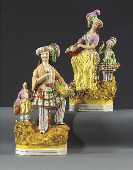 Two models of fruit-sellers