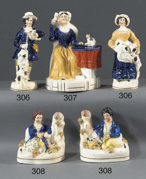 A porcelain figure of a woman
