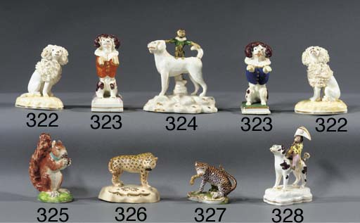 A porcelain model of a leopard