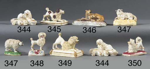 A porcelain model of a hound