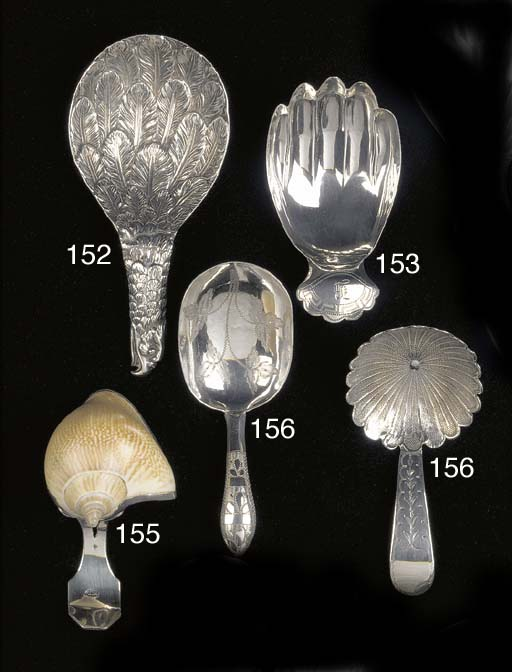 """A George III """"eagle's wing"""" caddy spoon"""