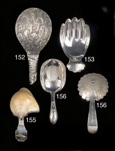 A George III caddy spoon