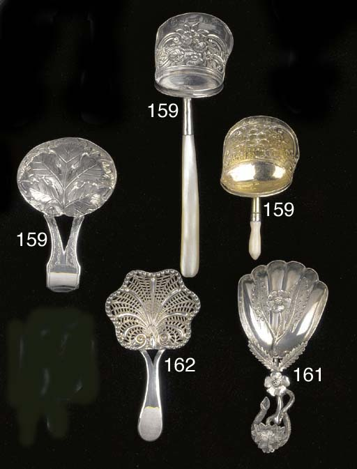 A Victorian caddy spoon