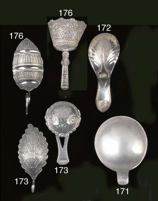 A George III acorn-type caddy spoon