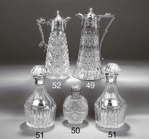 An Edwardian Silver-Mounted Glass Claret Jug