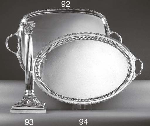 AN EDWARDIAN SILVER TWO-HANDLE