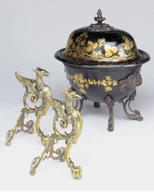 A Victorian parcel-gilt japann