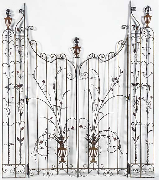 A French cast iron foliate ent