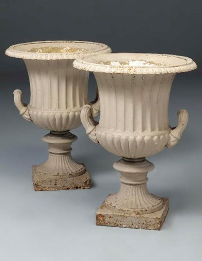 A pair of Victorian white pain
