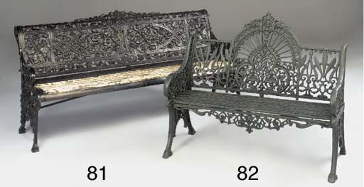 A painted cast iron seat, 20th