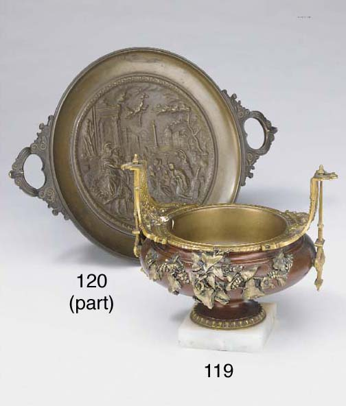 A French gilt metal mounted el