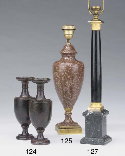 A pair of gilt metal mounted e