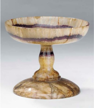 An English blue John tazza, 19