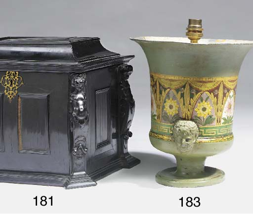 A pair of Victorian japanned u