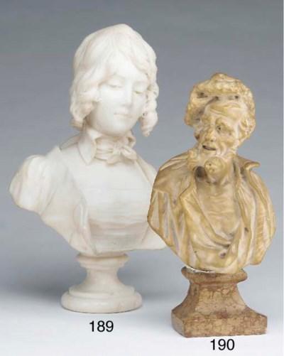 A Venetian white marble bust o