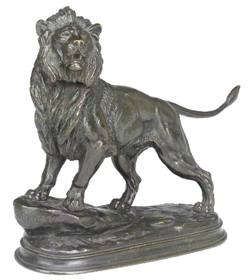 A French bronze lion, second h