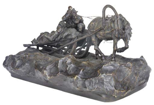 Russian bronze equestrian grou